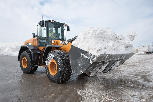 CASE Backhoe Snow Removal